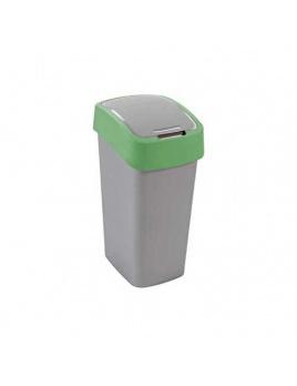 Curver odpadkový kôš Flipbin 10 l  strieborná/zelená