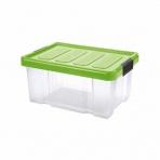 Box PUZZLE CLIP 14 l s vekom transparent/zelená