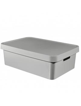 Úložný box INFINITY 30 l s vekom sivý