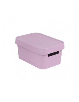 Úložný box INFINITY 4,5 l s vekom ružový