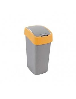 Curver odpadkový kôš Flipbin 25 l strieborná/žltá