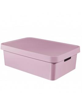 Úložný box INFINITY 30 l s vekom ružový