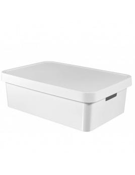 Úložný box INFINITY 30 l s vekom biely
