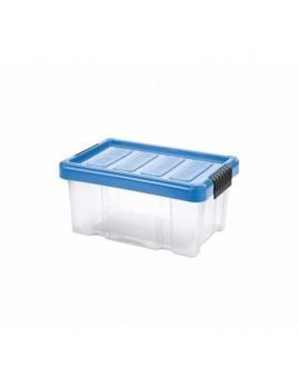 Box PUZZLE CLIP 5 l s vekom transparent/modrá