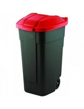Curver nádoba na odpad nášľapná 110 l červená