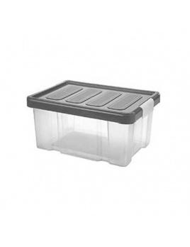 Box PUZZLE CLIP 14 l s vekom transparent/grafit
