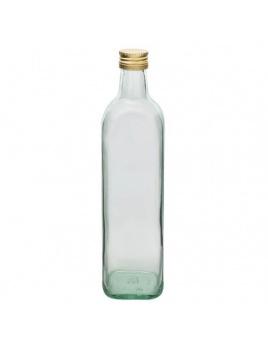 Fľaša na alkohol/víno 750ml MARASCA s uzáverom hranatá