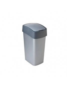 Curver odpadkový kôš Flipbin 25 l strieborná/antracitová