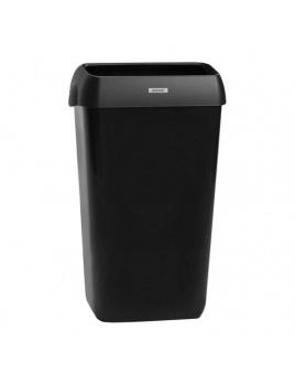 Odpadkový kôš KATRIN 25 l s poklopom, čierny