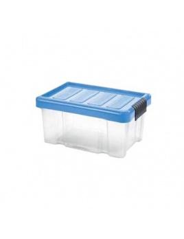 Box PUZZLE CLIP 14 l s vekom transparent/modrá
