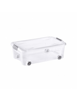 COMBI BOX CLIP 29,5 l s vekom transparent