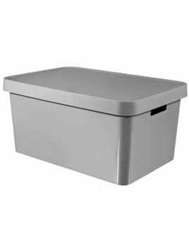 Úložný box INFINITY 45 l s vekom sivý