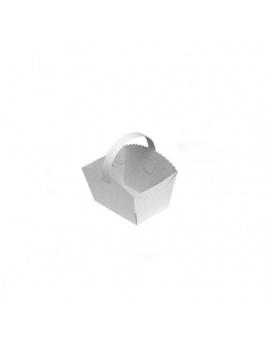 Svadobné košíčky s uškom 10 x 8 x 6 cm (50 ks)