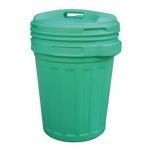 Kôš/nádoba na odpad s vekom 70L zelená, na recykláciu
