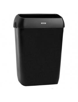 Odpadkový kôš KATRIN 50 l s poklopom, čierny