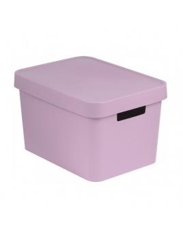 Úložný box INFINITY 17 l s vekom ružový