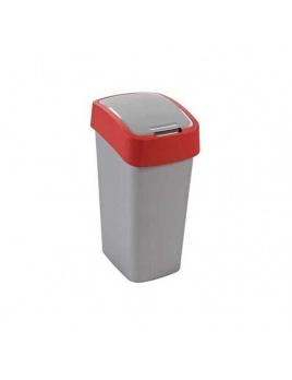 Curver odpadkový kôš Flipbin 10 l strieborná/červená