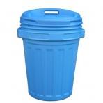 Kôš/nádoba na odpad s vekom 70L modrá, na recykláciu