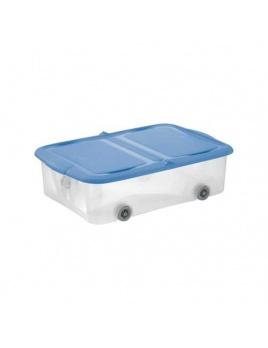 STOCKBOX 28 l s vekom, kolieska transparent/modrá