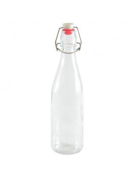 Fľaška 1l s klipom okrúhla