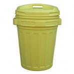 Kôš/nádoba na odpad s vekom 70L žltá, na recykláciu