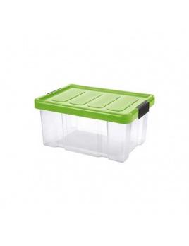 Box PUZZLE CLIP 5 l s vekom transparent/zelená