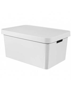 Úložný box INFINITY 45 l s vekom biely